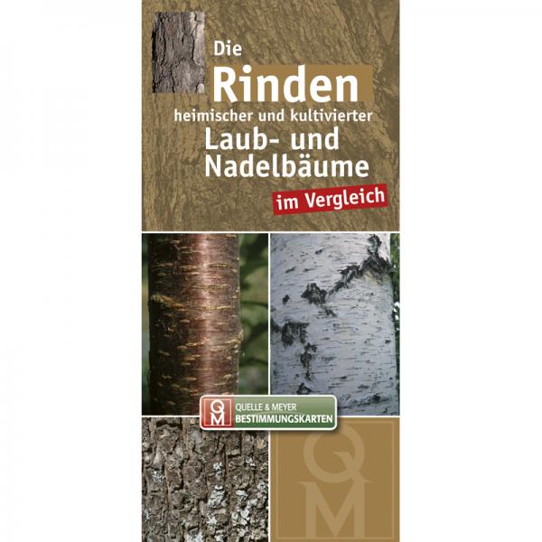 """Bestimmungskarte """"Die Rinden heimischer und kultivierter Laub- und Nadelbäume im Vergleich"""""""