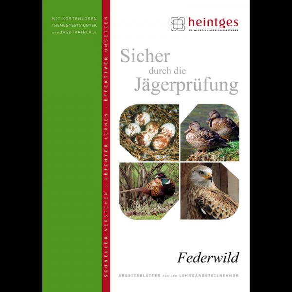 """Arbeitsblätter Jägerprüfung """"Federwild"""""""