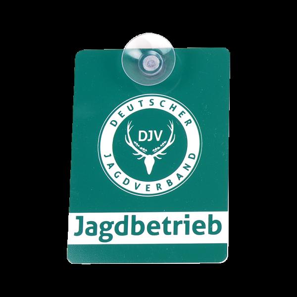 DJV-Autoschild Jagdbetrieb