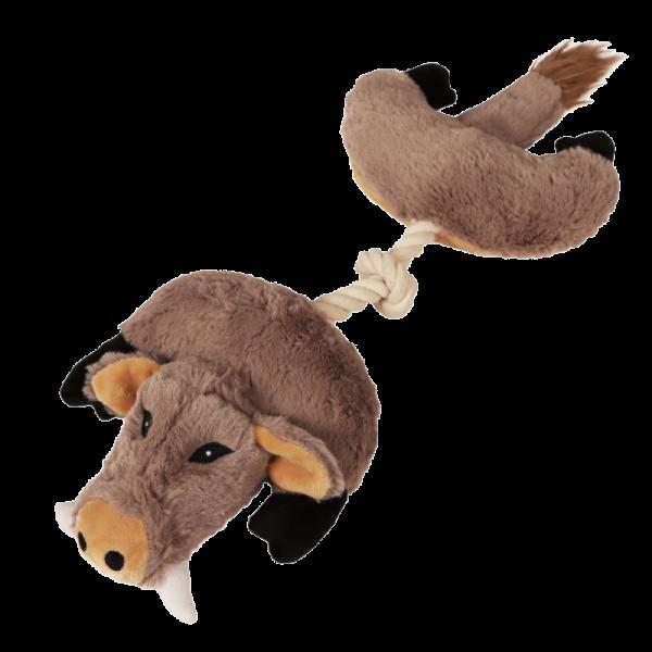 Quietsch-Plüsch-Wildschwein für Hunde