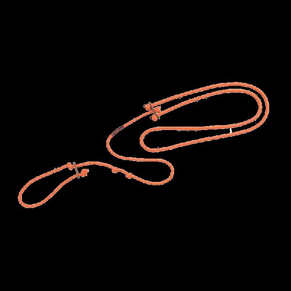Lautlose Hundeleine (orange und oliv)