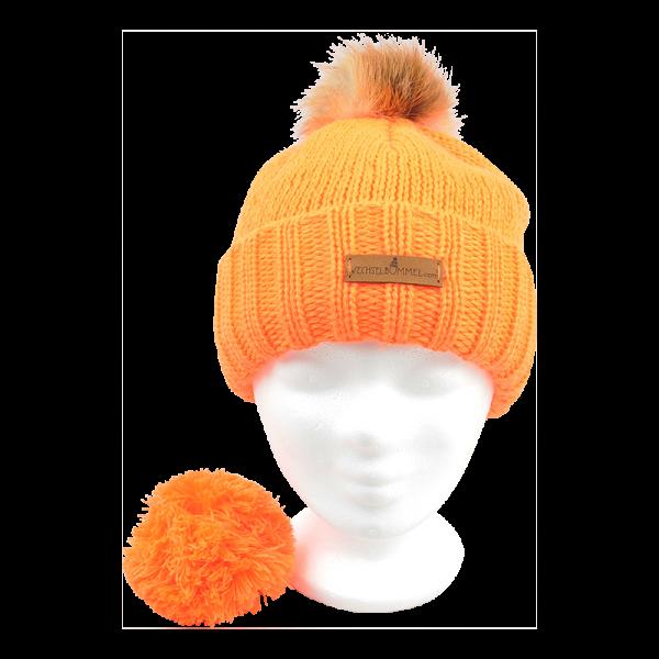 Fellwechsel - Wechselbommel-Mütze