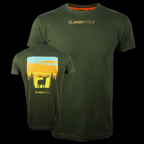 """Jagdstolz T-Shirt """"Hirsch"""" (beidseitig)"""
