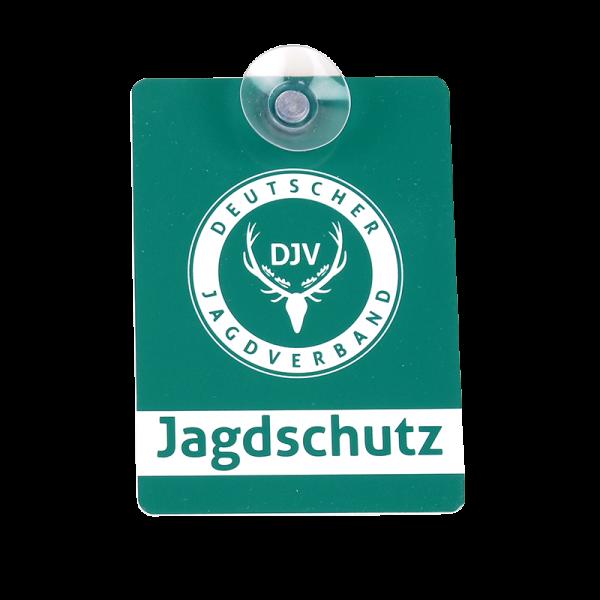 DJV-Autoschild Jagdschutz